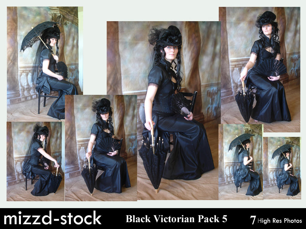 Black Victorian Pack 5 by mizzd-stock