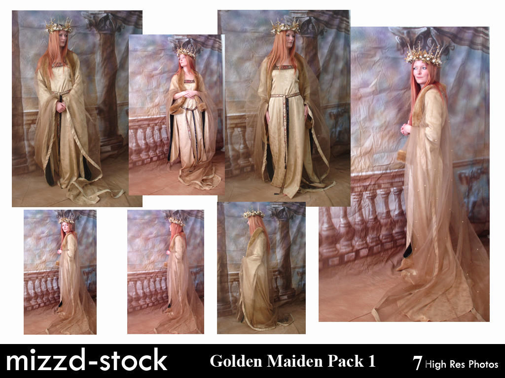Golden Maiden Pack 1 by mizzd-stock