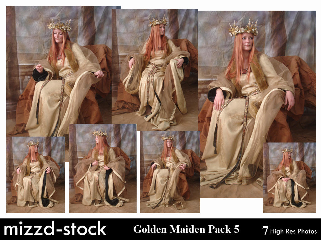 Golden Maiden Pack 5 by mizzd-stock