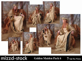 Golden Maiden Pack 6 by mizzd-stock