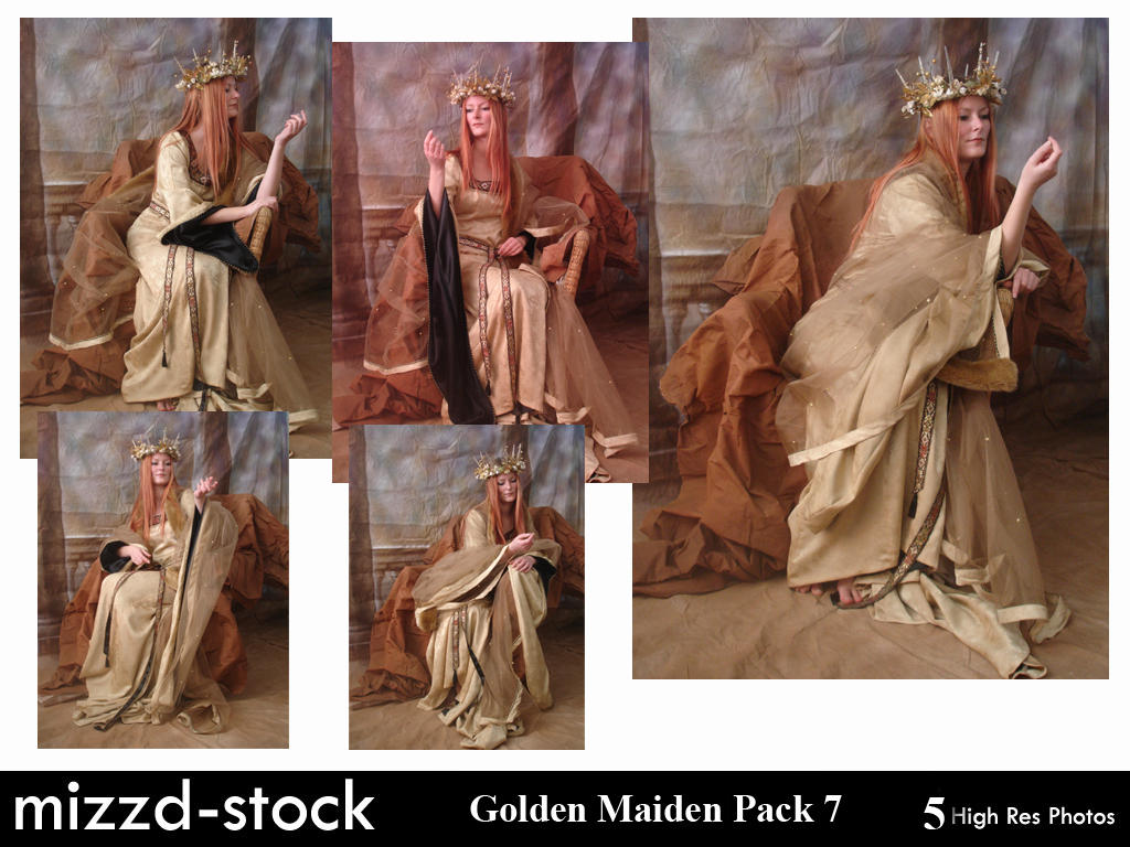 Golden Maiden Pack 7 by mizzd-stock