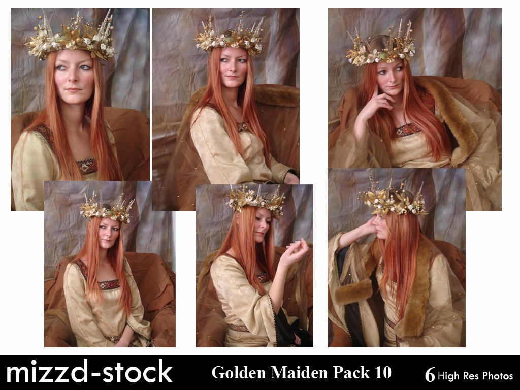 Golden Maiden Portrait Pack 1 by mizzd-stock