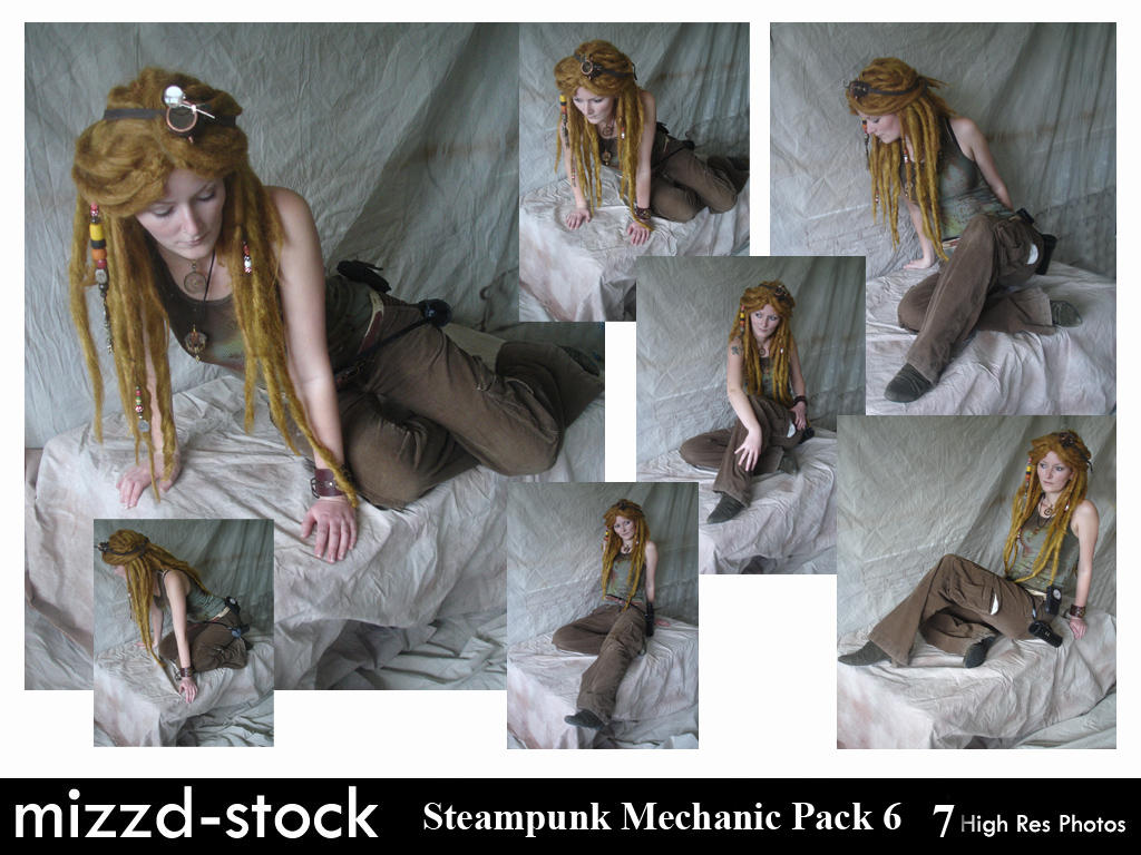 Steampunk Mechanic Pack 6 by mizzd-stock