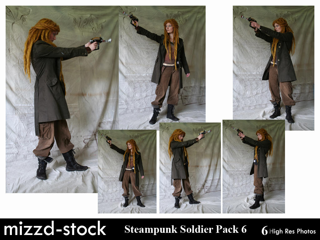 Steampunk Soldier Pack 6 by mizzd-stock