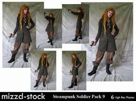 Steampunk Soldier Pack 9 by mizzd-stock