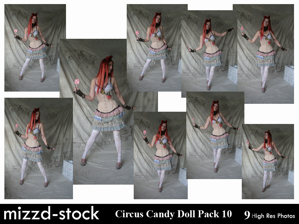 Circus Candy Doll Pack 10 by mizzd-stock