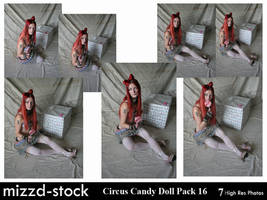 Circus Candy Doll 16 by mizzd-stock