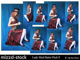 Lady Mad Hatter Pack 9 by mizzd-stock