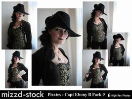 Pirates - Captain Ebony Black Portrait Pack 9 by mizzd-stock