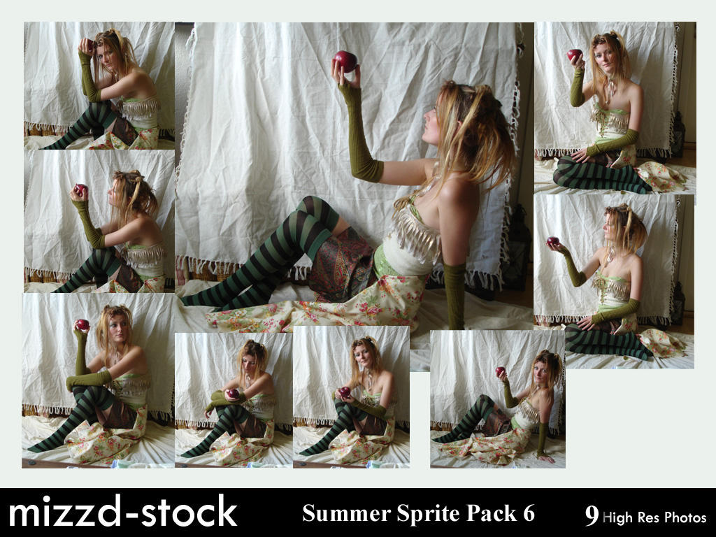 Summer Sprite Pack 6 by mizzd-stock