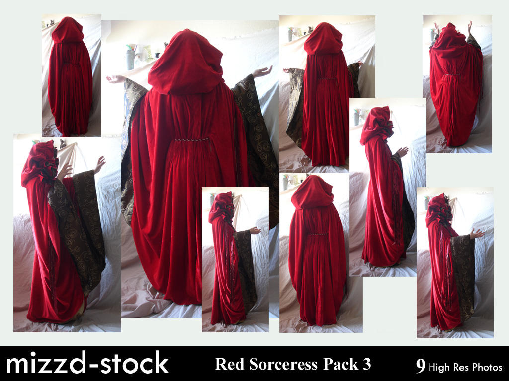 Red Sorceress Pack 3 by mizzd-stock