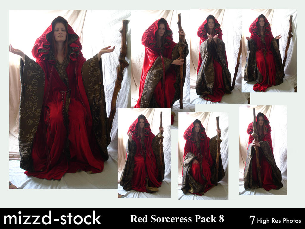 Red Sorceress Pack 8 by mizzd-stock