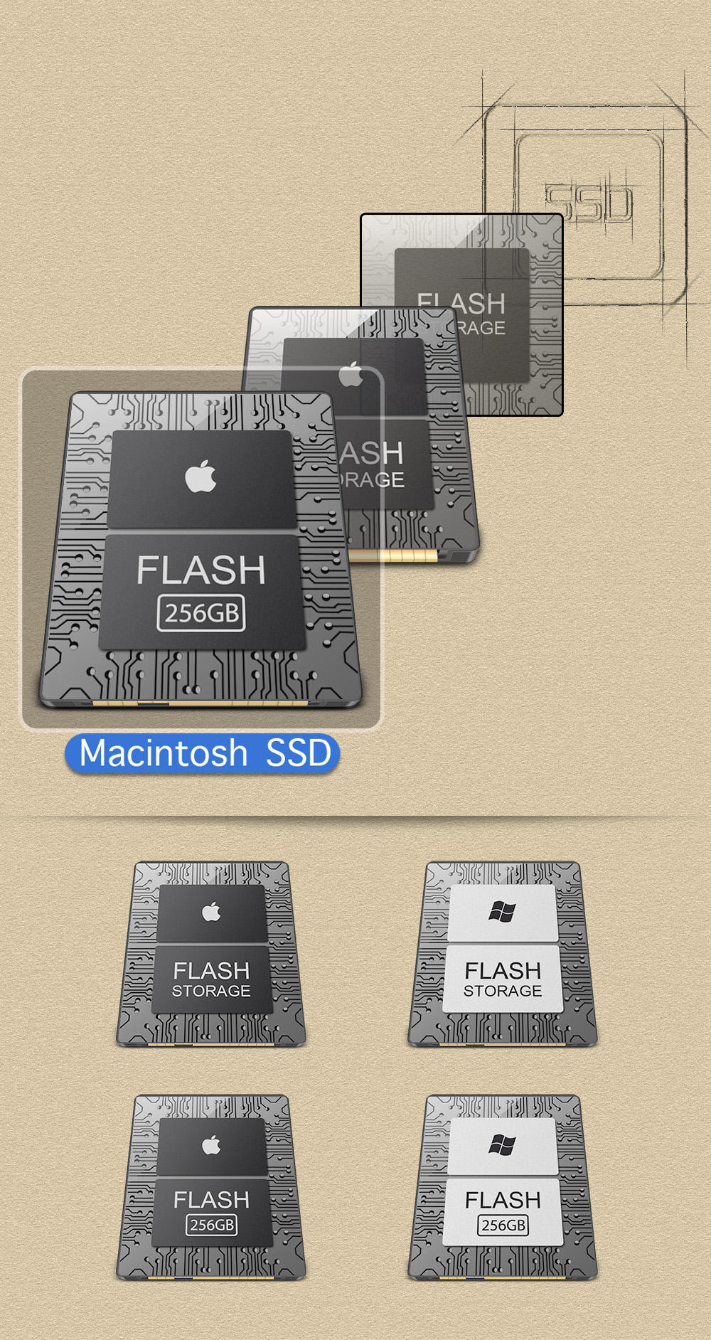 Macintosh SSD for macbook air by emrys9