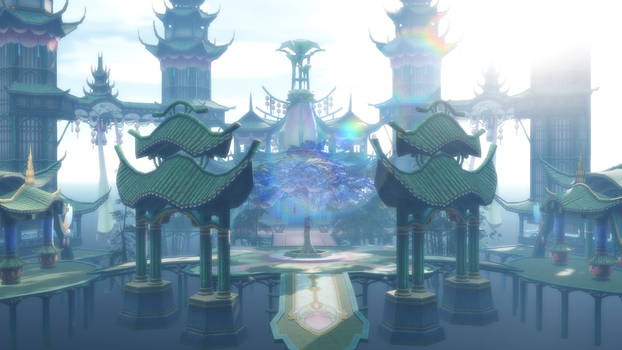 MMD Game china Stage: Bamboo House- DL