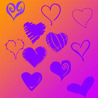 Heart Brushes by DaCow