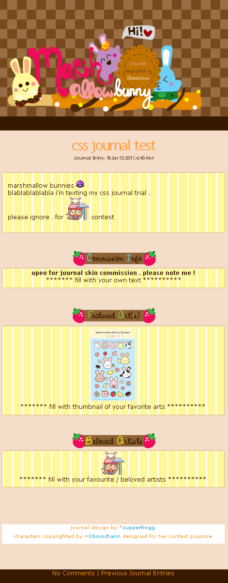 Marshmallow Bunny Journal Skin by supperfrogg