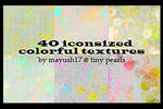 40 colorful textures