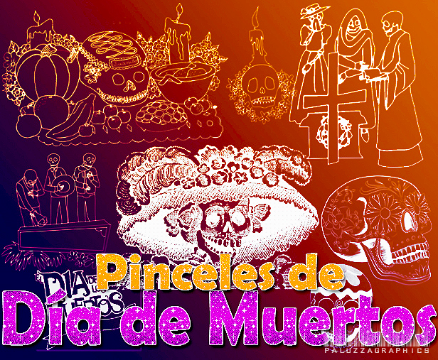 Pinceles de Dia de muertos by LexiVonEerie