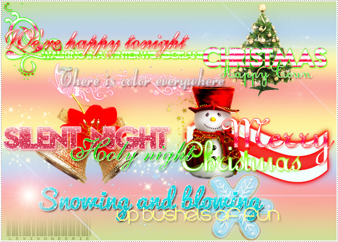 Christmas PNG Text by LexiVonEerie
