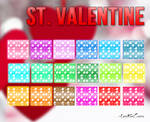 Special heart glitter styles: St Valentine's Day