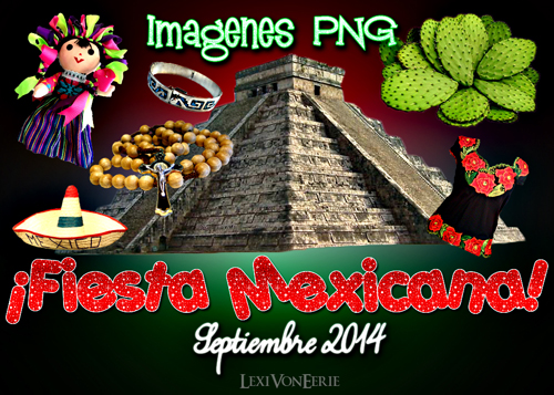 Fiesta Mexicana: 12 PNG by LexiVonEerie