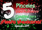 Fiesta Mexicana: 5 pinceles de Conffeti