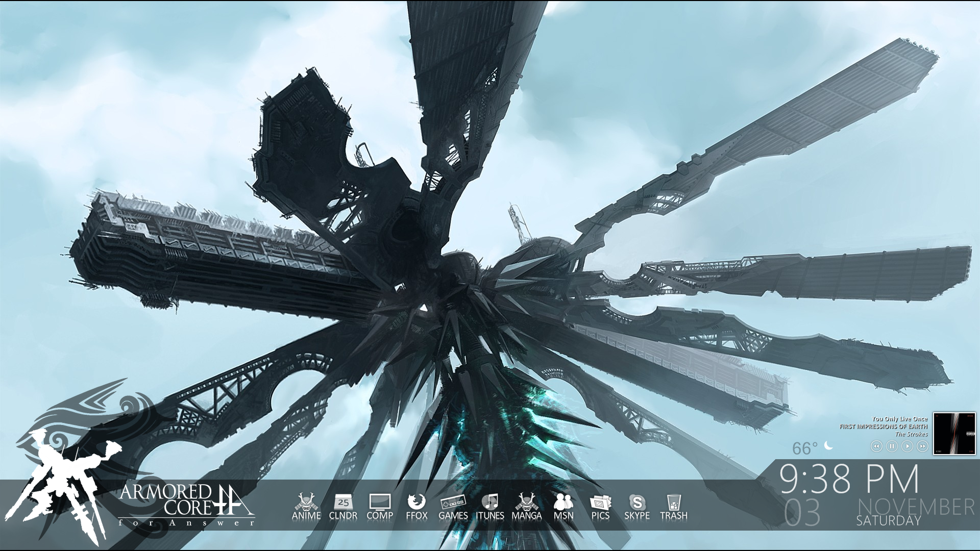Armored Core For Answer For Rainmeter By Vicariousvisionary On
