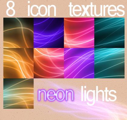 8 Neon Light Icon Textures by starfuckers007