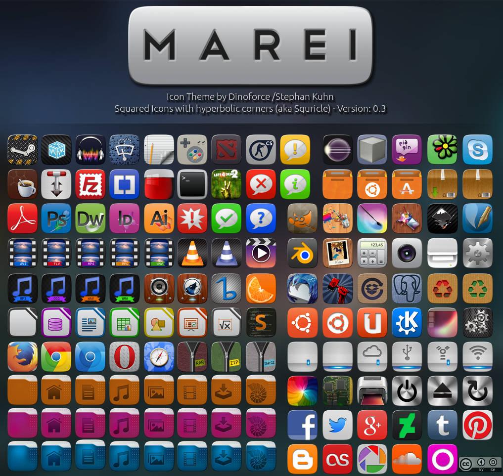 Marei Icon Theme by Dinoforce