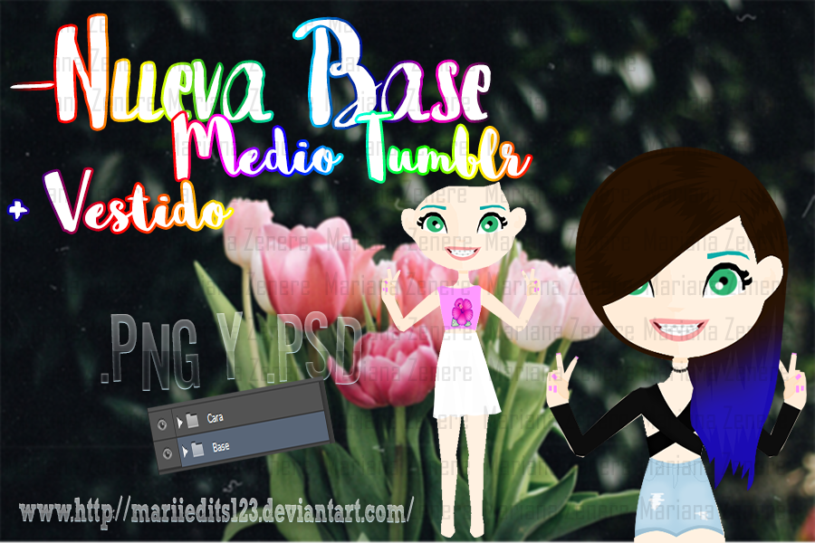 Base Medio Tumblr by MariiEdits123