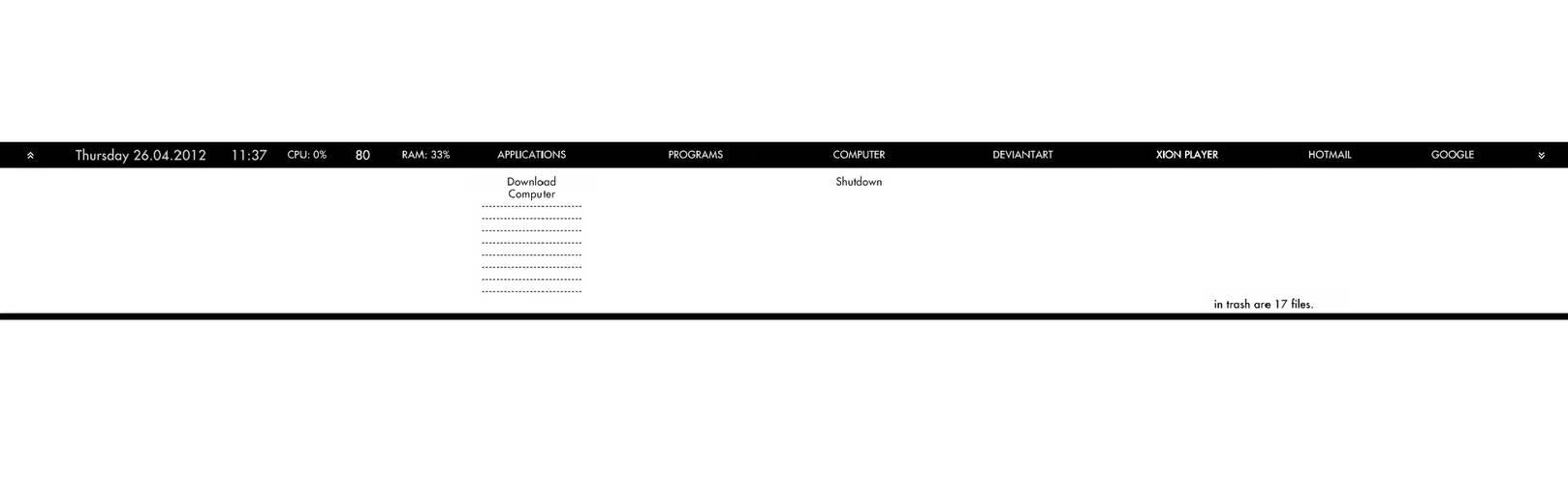 my rainmeter taskbar english version 26.04.2012