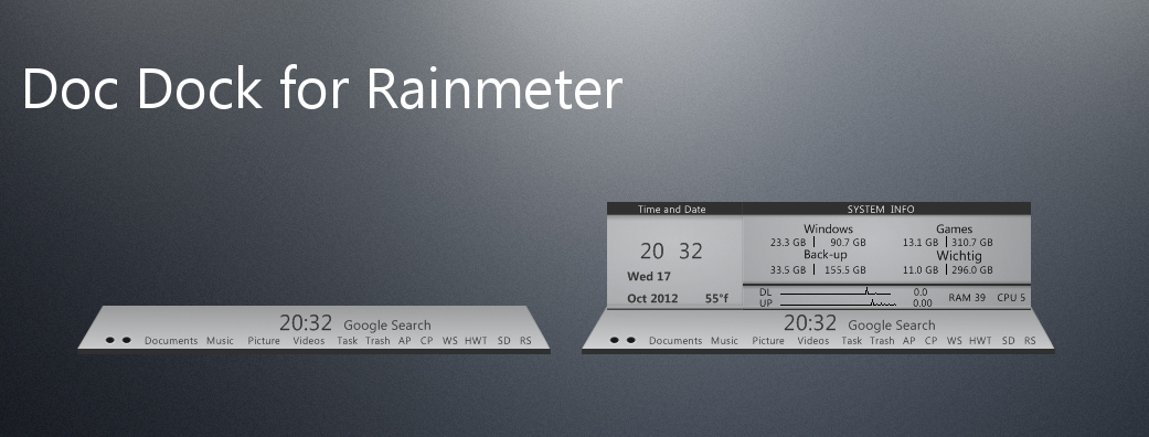 Doc Dock for Rainmeter 17.10.2012 by DocBerlin77