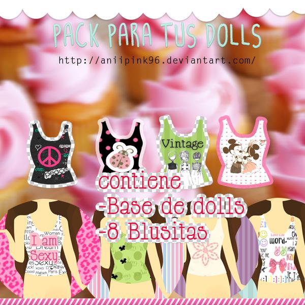 Pack de Blusitas para tus Dolls by AniiPink96