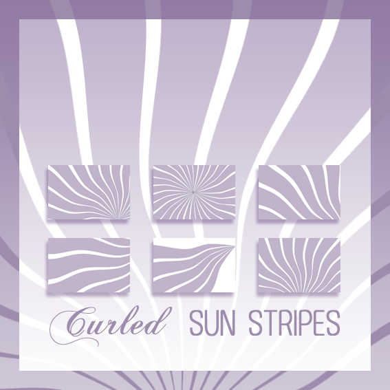 Curled Sun Stripes Brushes