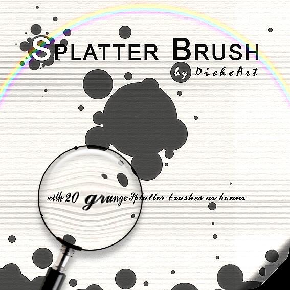 Grunge Splatter Brushes by DieheArt on DeviantArt