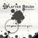 Grunge Splatter Brushes by DieheArt