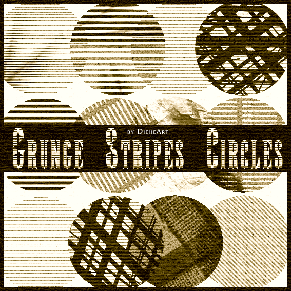 Grunge Stripes Circles Brushes