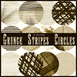 Grunge Stripes Circles Brushes by DieheArt