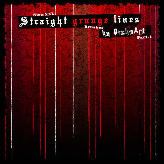 Straight Grunge Lines Brushes