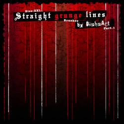 Straight Grunge Lines Brushes
