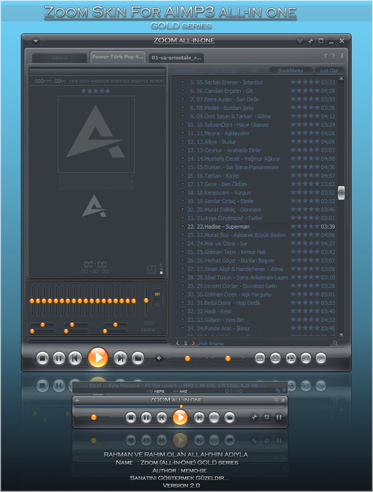 Zoom for AIMP3 player