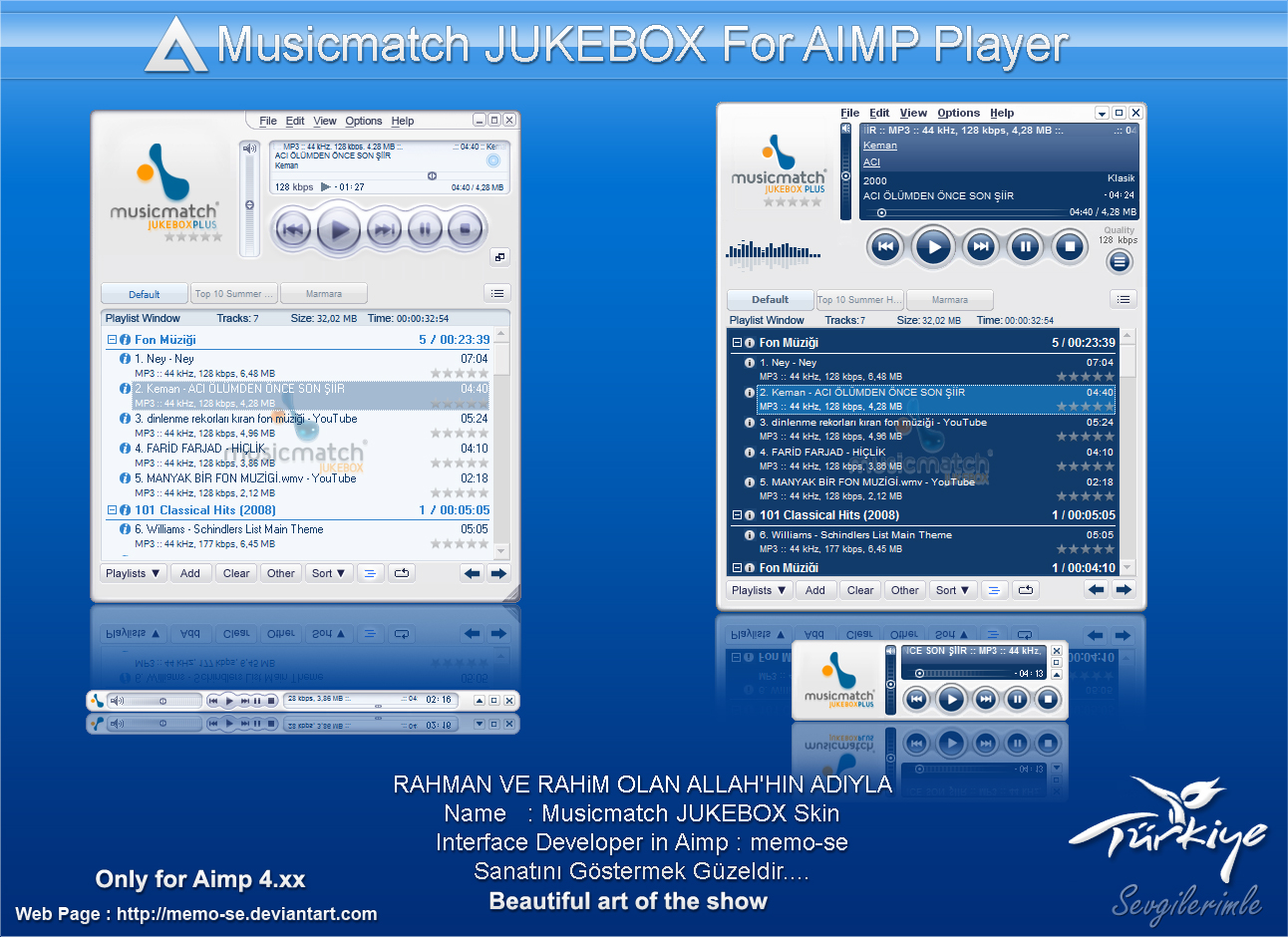 Musicmatch Jukebox Skin for AIMP Player