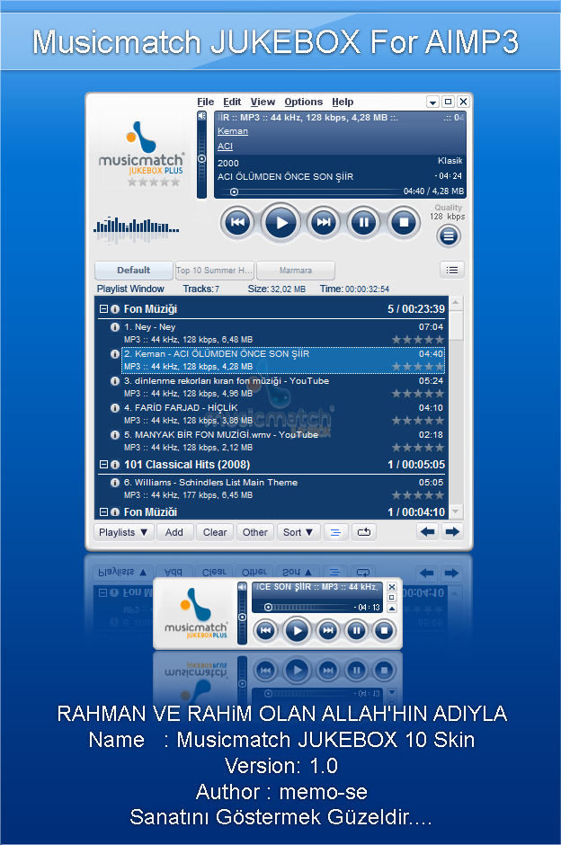 Musicmatch Jukebox 10 Skin for AIMP3 Player by memo-se on DeviantArt