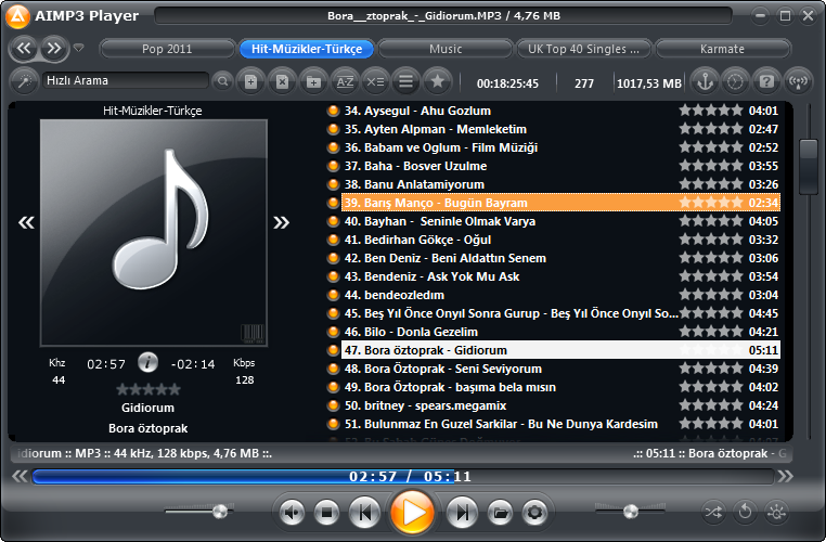 WZP OnyxHD For Aimp Player