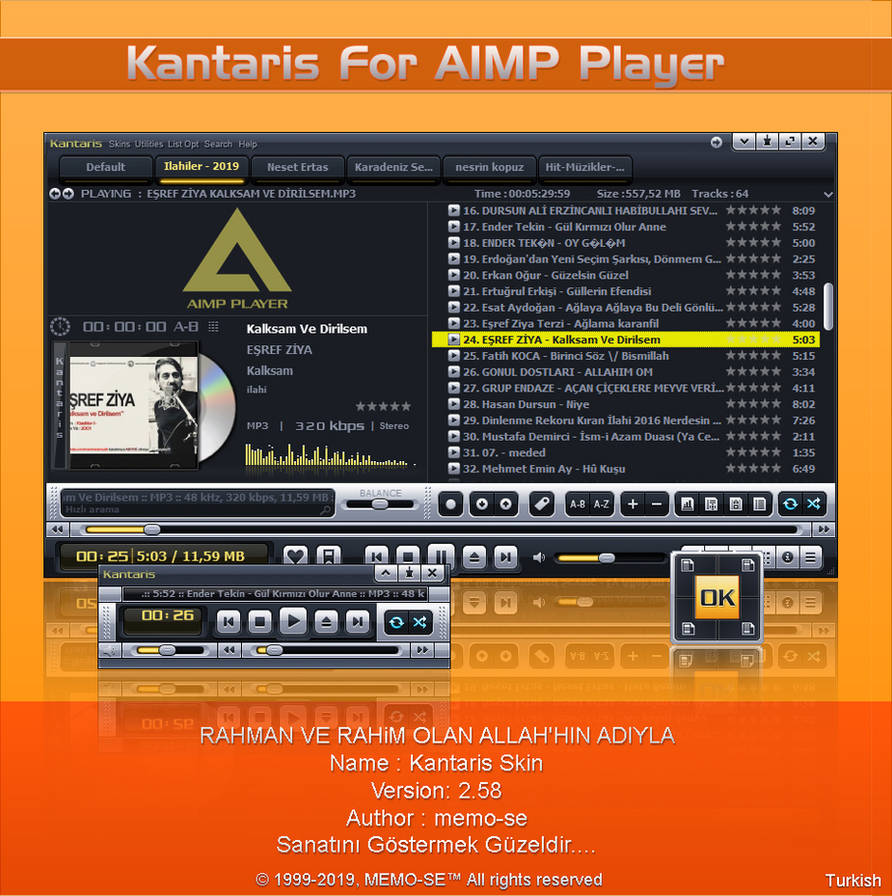 Kantaris Skin For AIMP Player by memo-se on DeviantArt