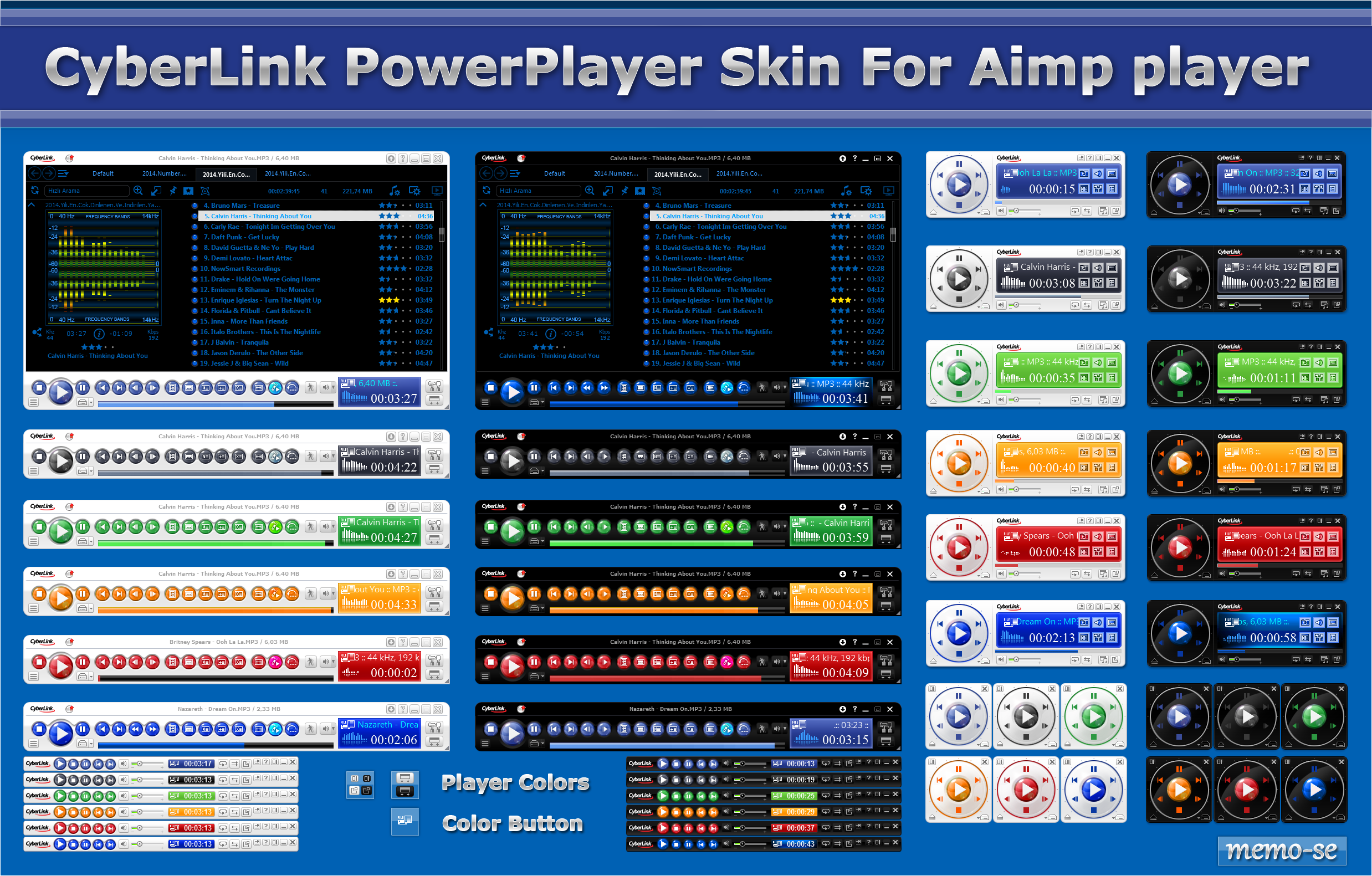 CyberLink PowerPlayer Skin For Aimp Player