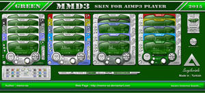MMD3 Green Skin For Aimp3 Player