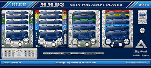 Mmd3 Blue Skin For Aimp 4 Player by memo-se