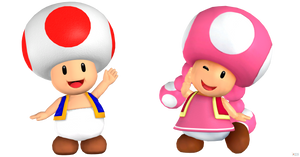 Toad and Toadette. (XNAlara)