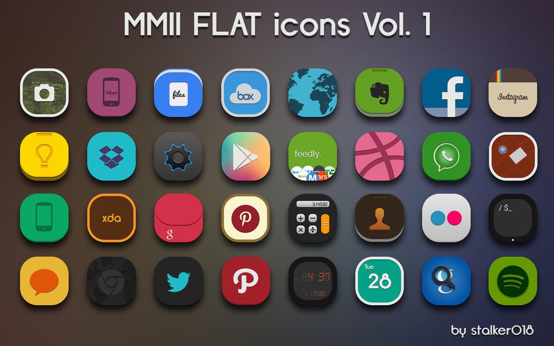 MMII FLAT icons Vol.1 by stalker018